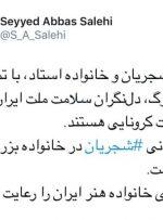 وزیر ارشاد: خانواده استاد شجریان دلنگران سلامت ملت ایران هستند