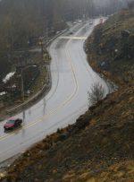 برف و باران در جادههای ۶ استان