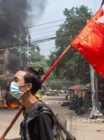 """کشتههای اعتراضات میانمار از ۵۰۰ تن گذشت/ اجرای """"اعتصاب زبالهای"""" از سوی معترضان"""