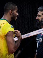 صعود برزیل به نیمه نهایی لیگ ملتهای والیبال/ جدال ۵ تیم برای ۳ سهیمه باقی مانده