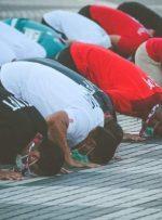 مسلمانان حاضر در توکیو در دهکده المپیک نماز عید قربان خواندند