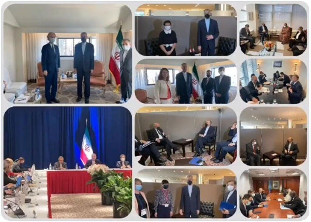 گزارش توئیتری خطیبزاده از دیدارهای روز چهارم وزیر خارجه در نیویورک