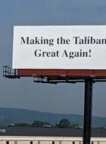 """""""بایدن طالبانی"""" روی بیلبوردهای آمریکا"""