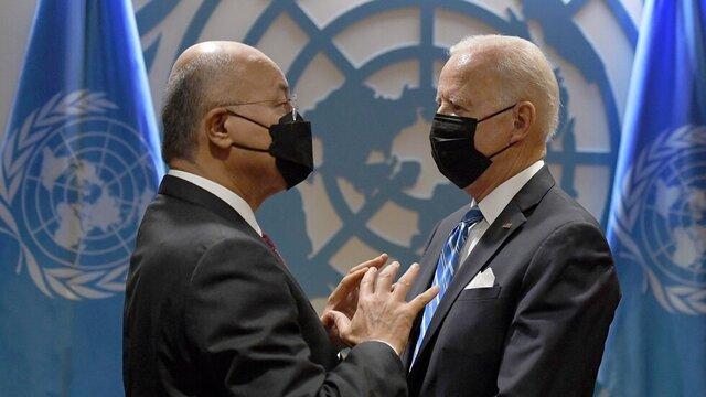 تعهد آمریکا به حمایت از عراق در دیدار بایدن و برهم صالح