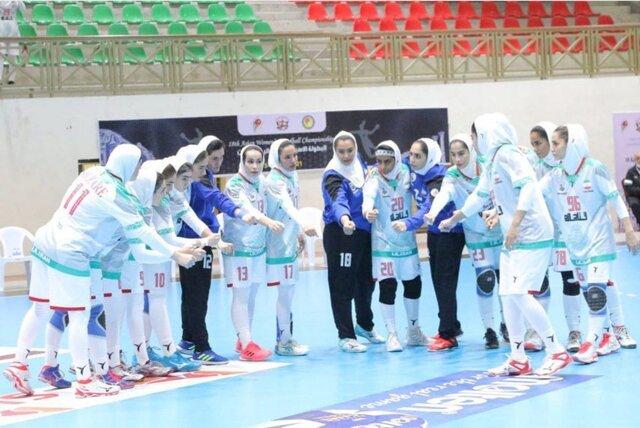 جدال دختران هندبال ایران برای برنز آسیا مقابل قزاقستان